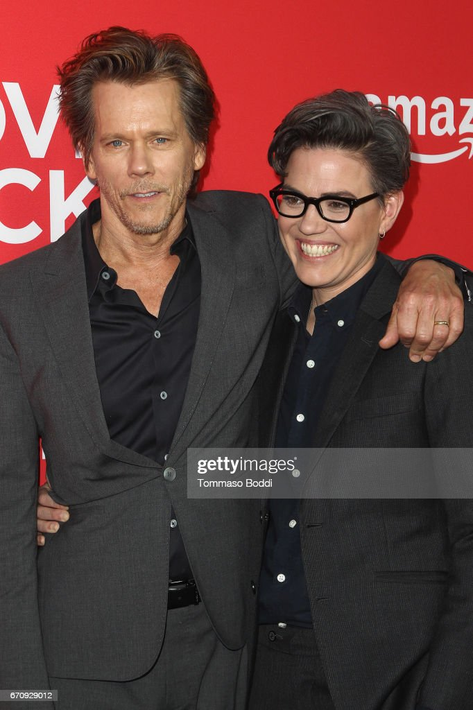 Kevin Bacon and Sarah Gubbins attend the Premiere Of Amazon's 'I Love Dick' at Linwood Dunn Theater on April 20, 2017 in Los Angeles, California.