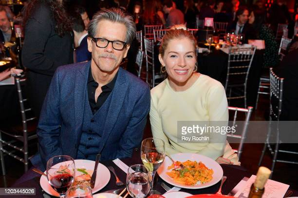 Kevin Bacon and Sienna Miller attend the 72nd Writers Guild Awards at Edison Ballroom on February 01 2020 in New York City