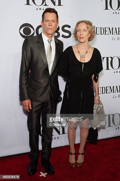 Kevin Bacon and sister Karin Bacon attend the American Theatre Wing's 68th Annual Tony Awards at Radio City Music Hall on June 8 2014 in New York City
