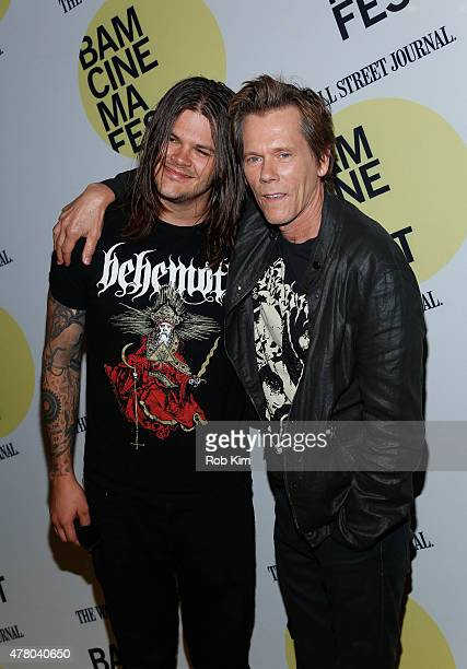 Kevin Bacon and son Travis Bacon attend the premiere of Cop Car during BAMcinemaFest 2015 at the BAM Peter Jay Sharp Building on June 21 2015 in New...
