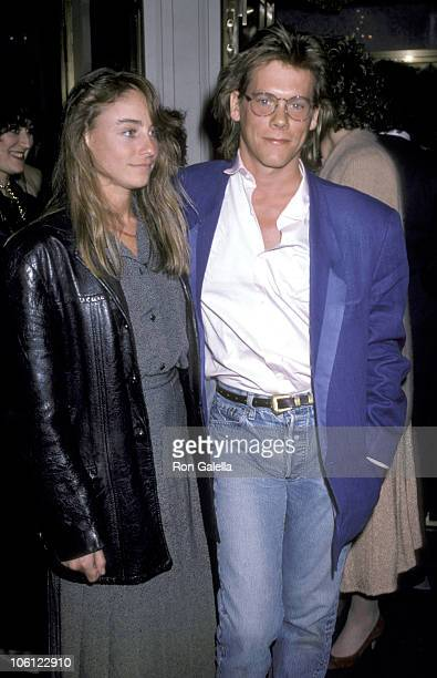 Kevin Bacon and Tracy Pollan during Search for Signs of Intelligent Life in the Universe Benefit Performance at Plymouth Theater in New York City New...