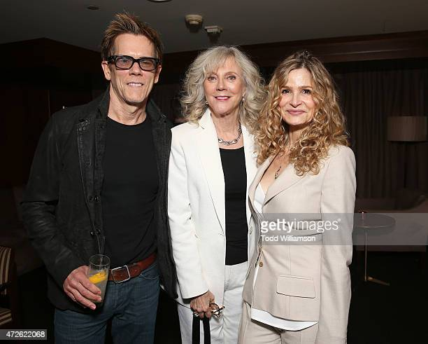 Kevin Bacon Blythe Danner and Kyra Sedgwick attend A Luncheon In Celebration Of 'I'll See You In My Dreams' at Sunset Tower Hotel on May 8 2015 in...