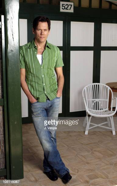 Kevin Bacon during 2003 Cannes Film Festival 'Mystic River' Portraits at Hotel Du Cap in Cannes France