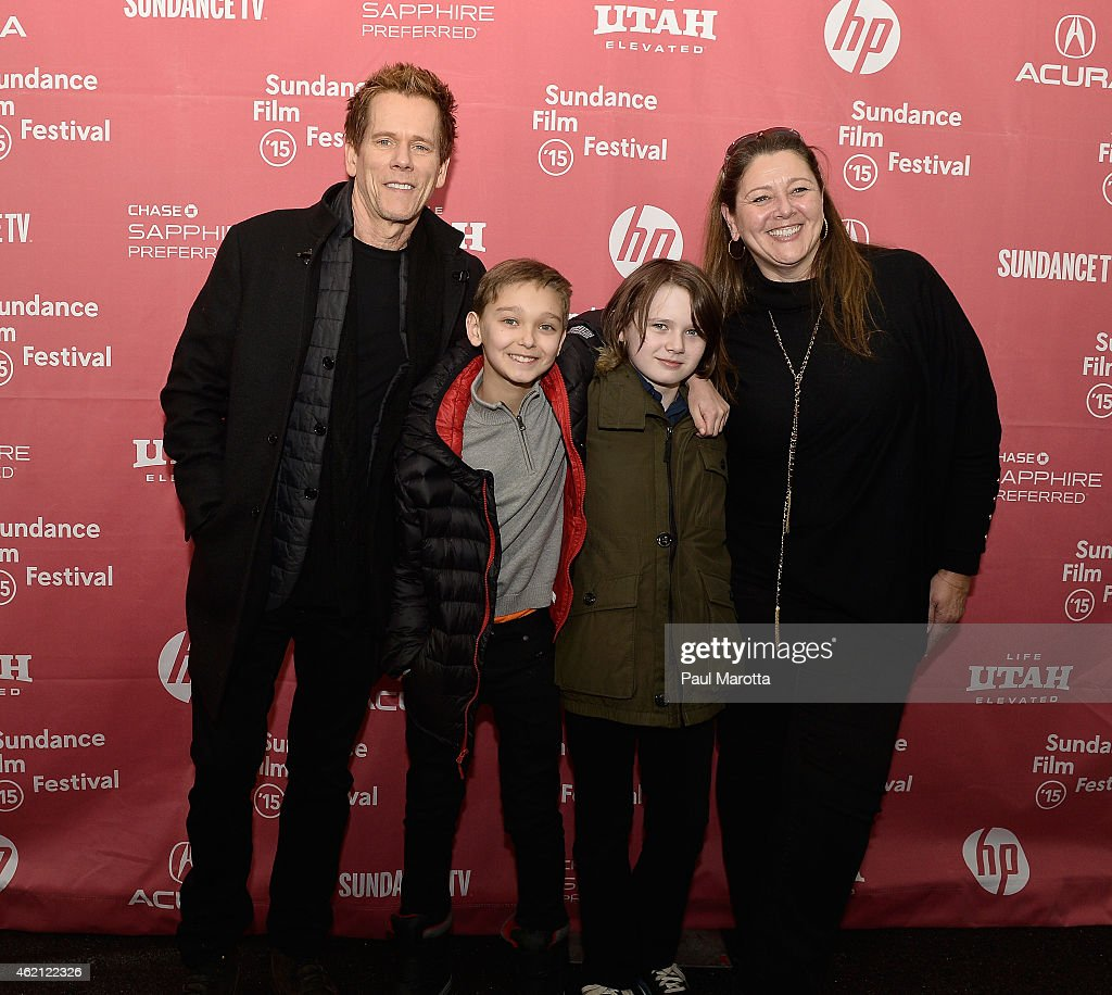 Kevin Bacon, James Freedson-Jackson, Hays Wellford and Camryn Manheim attend the premiere of 'Cop Car' during the 2015 Sundance Film Festival on January 24, 2015 in Park City, Utah.