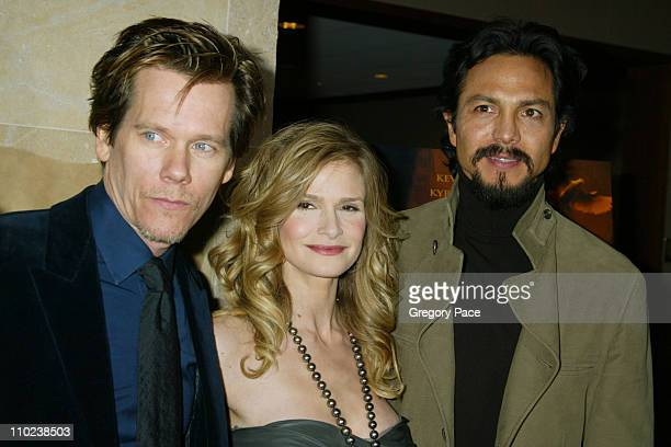 """Kevin Bacon, Kyra Sedgwick and Benjamin Bratt during """"The Woodsman"""" New York Cit y Premiere - Inside Arrivals at The Skirball Center in New York..."""