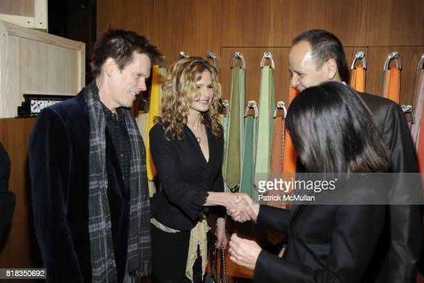 Kevin Bacon, Kyra Sedgwick, Robert Chavez and Veronique Nichanian attend Opening of the First HERMES Men's Store in New York at Hermes Men's Store on...