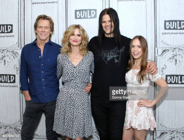 Kevin Bacon Kyra Sedgwick Travis Bacon and Ryann Shane appears to promote Story of a Girl during the BUILD Series at Build Studio on July 21 2017 in...