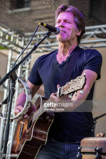 Kevin Bacon of the Bacon Bros band performs at 2019 KAABOO Del Mar at Del Mar Race Track on September 15 2019 in Del Mar California