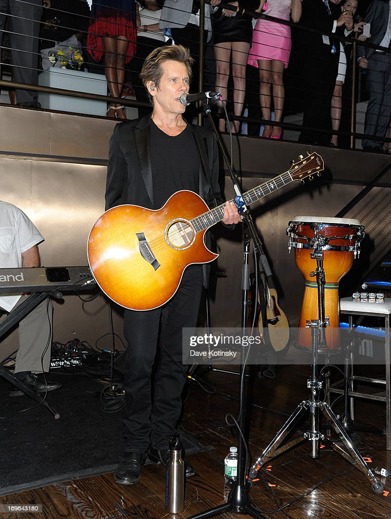 Kevin Bacon performs at NEWYORK.COM 'Connected To Everything' Launch Party on May 29, 2013 in New York, United States.