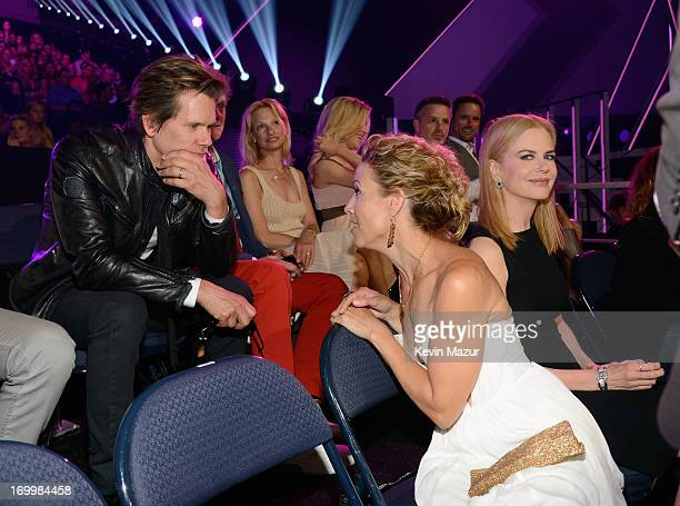 Kevin Bacon Sheryl Crow and Nicole Kidman attend the 2013 CMT Music awards at the Bridgestone Arena on June 5 2013 in Nashville Tennessee