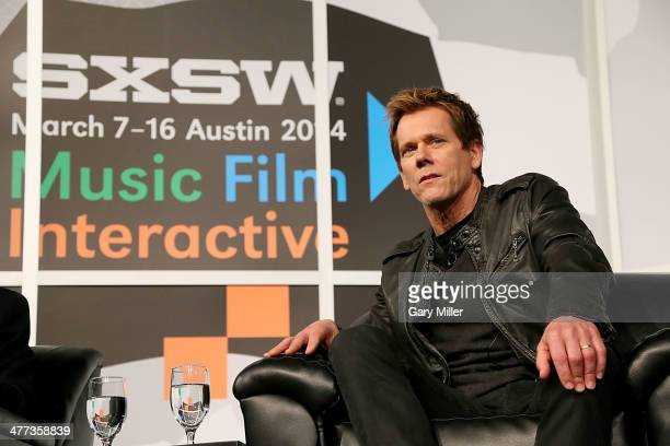 Kevin Bacon speaks during the '6 Degrees of Kevin Bacon A Social Phenomenon Turns 20' session at the Austin Convention Center during the South By...