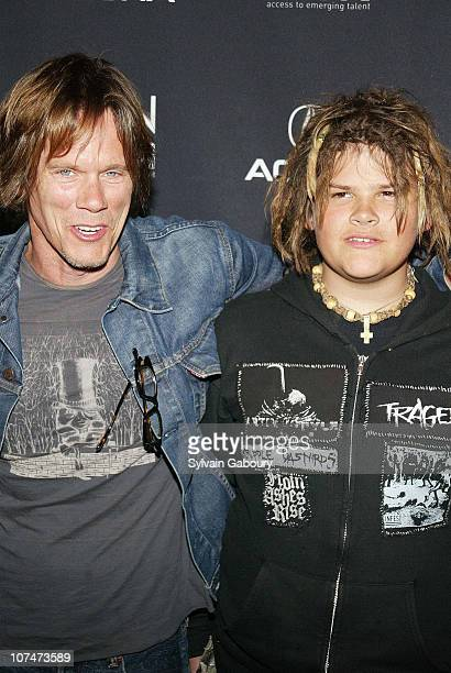 Kevin Bacon Travis Bacon during Gen Art Film Festival opens with the premiere of Loverboy at The Ziegfeld Theater in New York New York United States