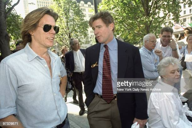 Kevin Bacon , Treat Williams and Celeste Holm join demonstration on Sixth Ave. Where the stars turned out to support striking members of the Screen...