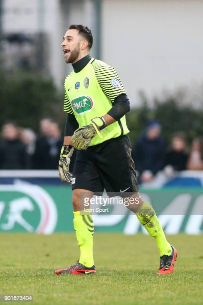 Kevin Baillif of Houilles during the french National Cup match between Houilles and Concarneau on January 6 2018 in Houilles France