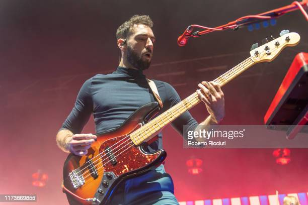 Kevin Baird of Two Door Cinema Club performs on stage at O2 Academy Glasgow on October 5, 2019 in Glasgow, Scotland.