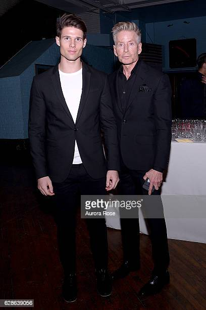 Kevin Baker and Calvin Klein attend ACRIA Holiday Dinner Honoring The Robert Mapplethorpe Foundation Judith Light and Casey Fremont at The 69th...