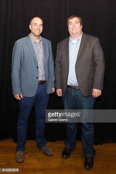 """Kevin Balfe & Christopher Balfe of Red Seat attend Kirk Cameron's """"Revive Us"""" event at Harvest Cathedral on October 18, 2016 in Chicago City."""