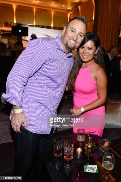 Kevin Barker and Hazel Mae attend the Uninterrupted Canada Launch held at Louis Louis at The St Regis Toronto on August 02 2019 in Toronto Canada