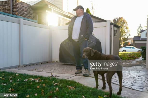 Kevin Barthold poses for a portrait at his home in Canton on Election Day, Tuesday, Nov. 3, 2020 in Canton, MI. Preceded by an unprecedented early...