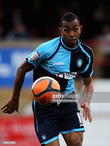 Kevin Betsy of Wycombe in action during the Hayes and Yeading United FC and Wycombe Wanderers FA Cup 1st Round Proper match at Church Road on...