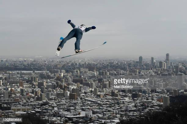 Kevin Bickner of USA competes on day two of the FIS Ski Jumping World Cup Sapporo at Okurayama Jump Stadium on February 02, 2020 in Sapporo,...