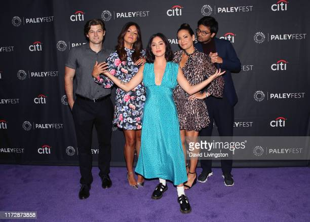 Kevin Bigley Angelique Cabral Rosa Salazar Constance Marie and Siddharth Dhananjay of 'Undone' attend The Paley Center for Media's 2019 PaleyFest...