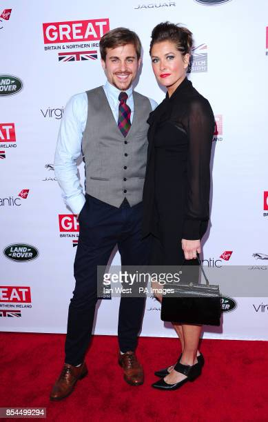Kevin Bishop and an unidentified woman attending the GREAT British Film Reception at the British Consul's residence in Los Angeles USA