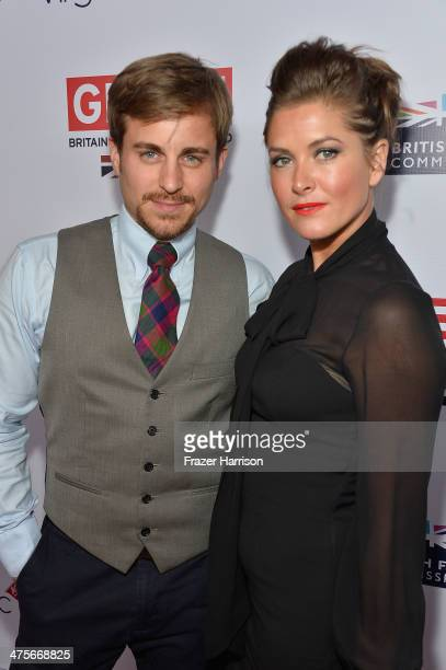 Kevin Bishop and Casta Bishop attend the 2014 GREAT British Oscar Reception at British Consul General's Residence on February 28 2014 in Los Angeles...
