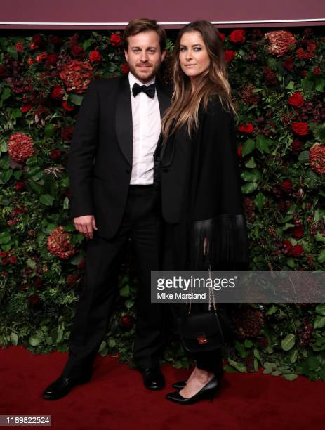 Kevin Bishop and Casta Bishop attends the 65th Evening Standard Theatre Awards at the London Coliseum on November 24 2019 in London England
