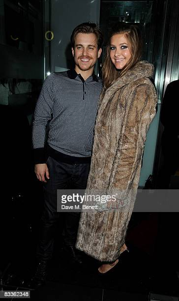 Kevin Bishop and his wife Casta arrive at the afterparty for 'Fat Pig' at the Kingly Club on October 20 2008 in London England
