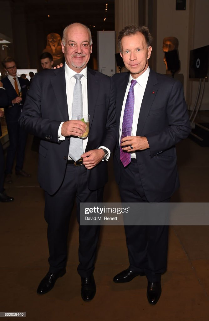Kevin Boltman and John Studzinski attend the Montblanc de la Culture Arts Patronage Award for the work of the Genesis Foundation at The British Museum on October 12, 2017 in London, England.