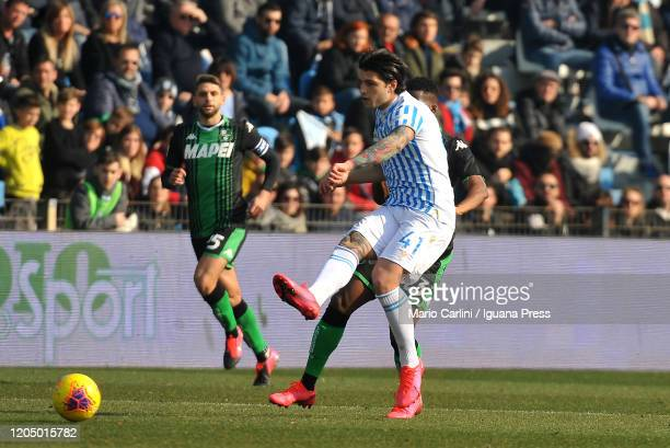 Kevin Bonifazi of SPAL in action during the Serie A match between SPAL and US Sassuolo at Stadio Paolo Mazza on February 09 2020 in Ferrara Italy