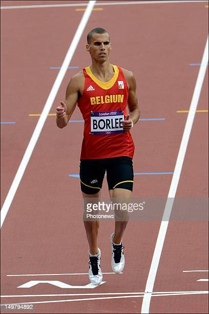 Kevin Borlee of Belgium during the the heats of the 400m Men Athletics held during Day 08 of the London 2012 Olympic Games at the Olympic Stadium on...