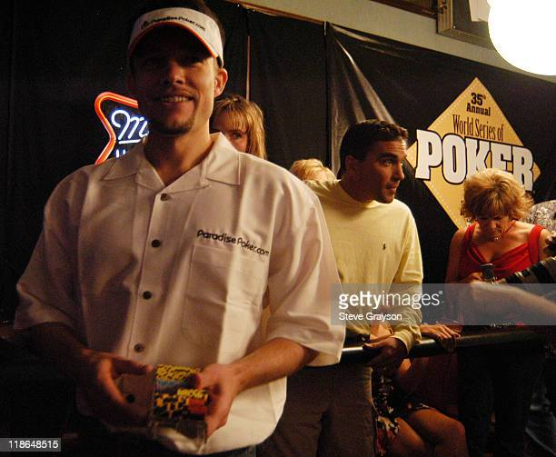 Kevin Bott walks away with his winnings after moving on to the next round during day six of the 2004 World Series of Poker at Binion's Horseshoe Club...