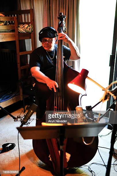 Kevin Brandon plays bass during the Kaylene Peoples My Man CD recording session featuring Bobby Lyle on October 22 2013 at the Mouse House Studio in...