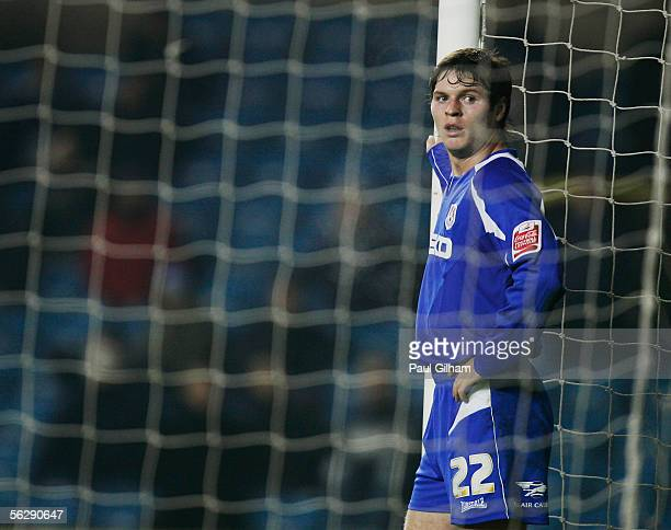 Kevin Braniff of Millwall guards the post during the CocaCola Championship match between Millwall and Norwich City at the New Den on November 22 2005...