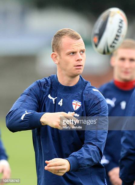 Kevin Brown of England passes the ball during an England Four Nations training session at the Petone Rugby Grounds on October 20 2010 in Wellington...