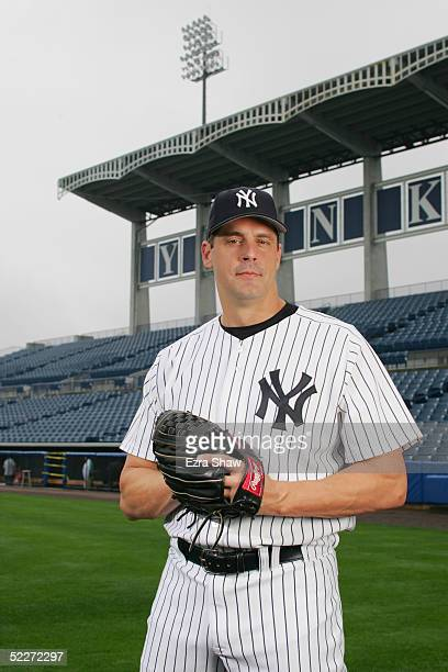 Kevin Brown of the New York Yankees poses for a portrait during Yankees Photo Day at Legends Field on February 25 2005 in Tampa Florida