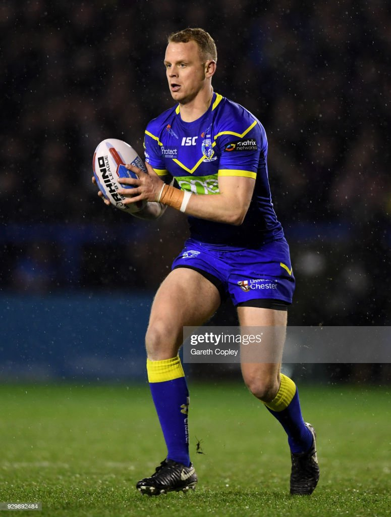 Kevin Brown of Warrington during the Betfred Super League between Warrington Wolves and St Helens on March 9, 2018 in Warrington, England.