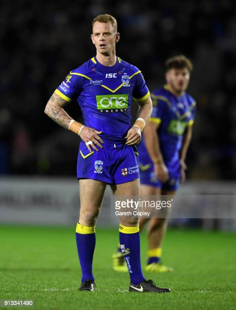 Kevin Brown of Warrington during the Betfred Super League match between Warrington Wolves and Leeds Rhinos on February 1 2018 in Warrington England