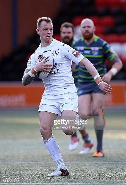 Kevin Brown of Widnes Vikings during the First Utility Super League match between Widnes Vikings and Leeds Rhinos at Select Security Stadium on...
