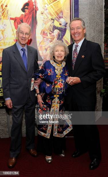 Kevin Brownlow Carla Laemmle and Ron Chaney attend The Academy Of Motion Picture Arts And Sciences' Screening Of The Phantom Of The Opera at AMPAS...