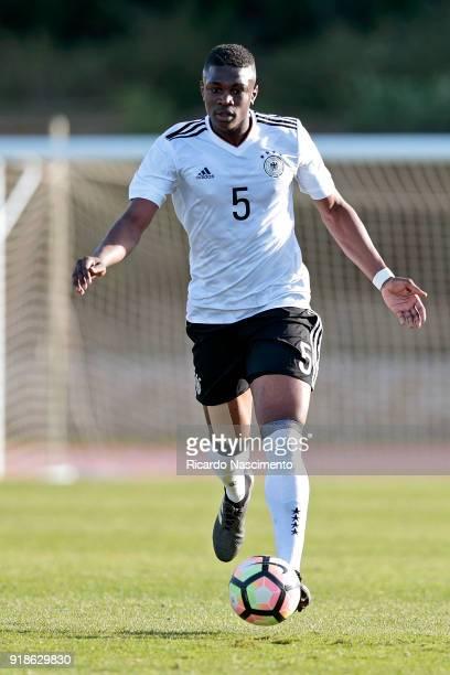 Kevin Bukusu of Germany U17 during U17Juniors Algarve Cup match between U17 Portugal and U17 Germany at Bela Vista Stadium on February 13 2018 in...