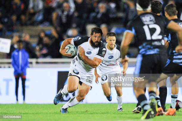 Kevin Burgaud of Vannes during the Pro D2 match between Massy and Vannes on September 28, 2018 in Massy, France.