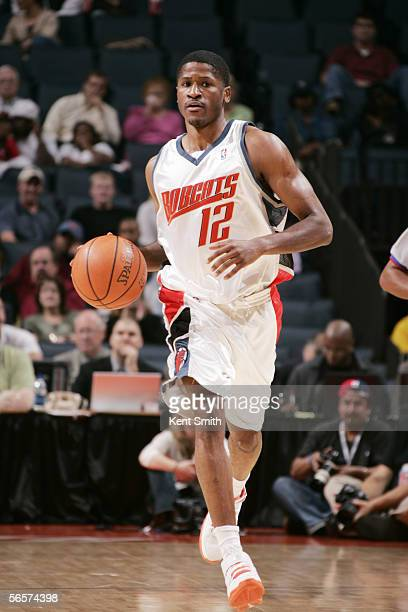 Kevin Burleson of the Charlotte Bobcats moves the ball against the Indiana Pacers at Charlotte Coliseum on November 16 2005 in Charlotte North...