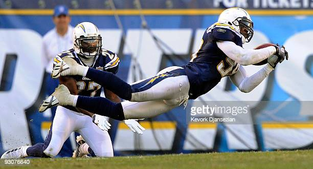 Kevin Burnett of the San Diego Chargers breaks up a pass against the Philadelphia Eagles of the Philadelphia Eagles during the NFL football game at...