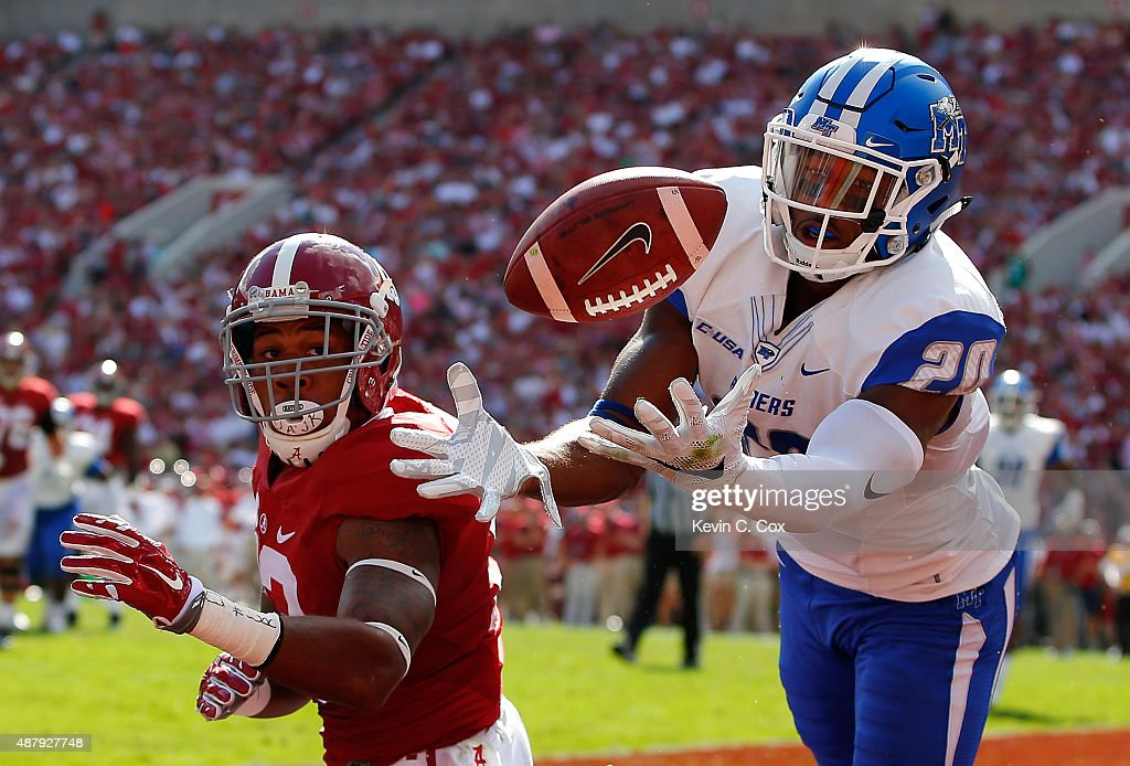Middle Tennessee v Alabama : News Photo