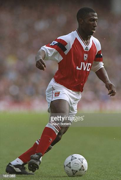 Kevin Campbell of Arsenal in action during a match Mandatory Credit Shaun Botterill/Allsport