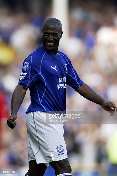 Kevin Campbell of Everton in action during the FA Barclaycard Premiership match between Everton and Middlesbrough played at Goodison Park in...
