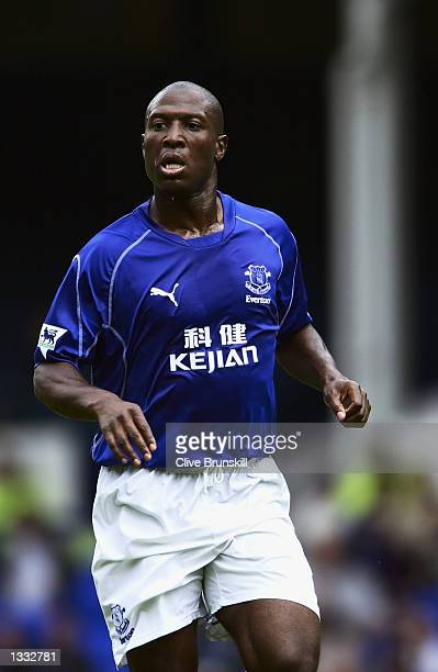 Kevin Campbell of Everton in action during the preseason match between Everton and Athletico Bilbao played at Goodison Park Liverpool England on...